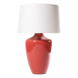 "Red Crackle Finish ""Snap"" Lamp"