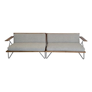 Mid Century Bamboo Sectional For Sale