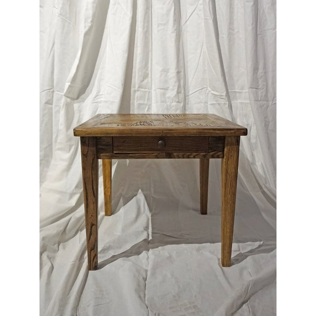 Reclaimed Wood Side Table - Image 2 of 5
