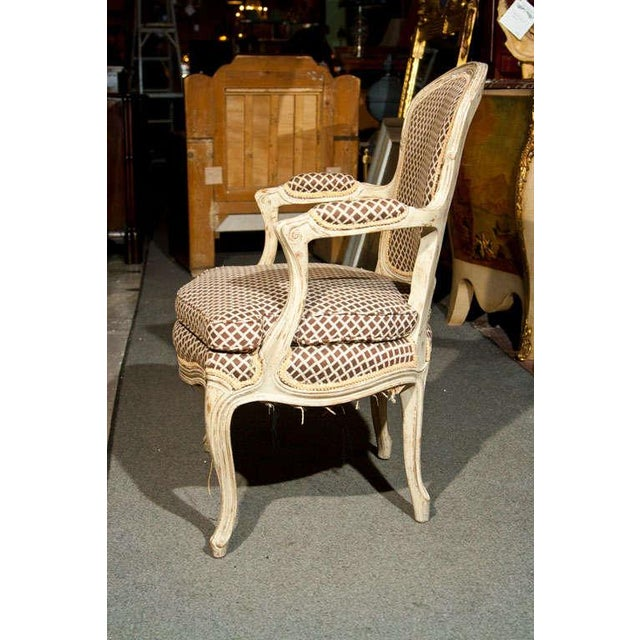 French Louis XIV Style Fauteuils - Pair - Image 4 of 8