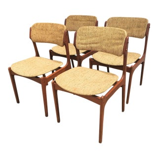 Erik Buch Teak Dining Chairs - Set of 4 For Sale