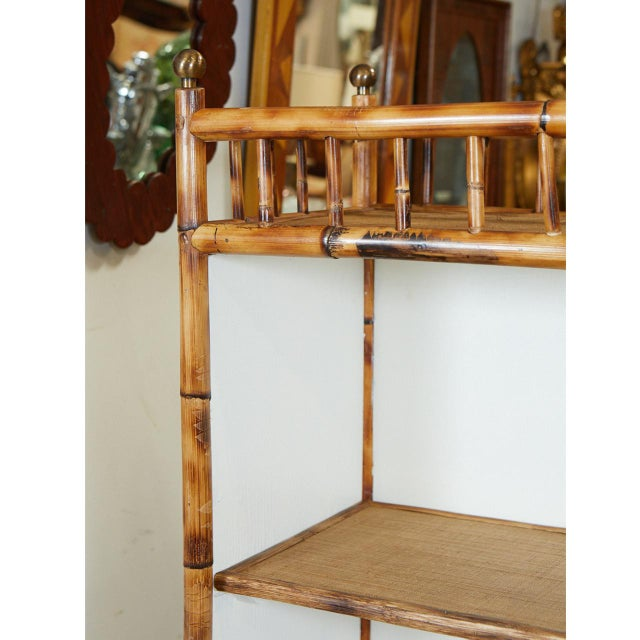 Traditional Jw Custom Line Bamboo Bookcase For Sale - Image 3 of 8