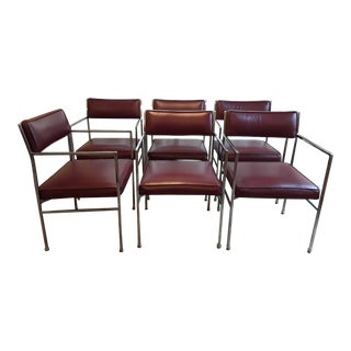 Chrome and Vinyl Chairs - Set of 6 For Sale
