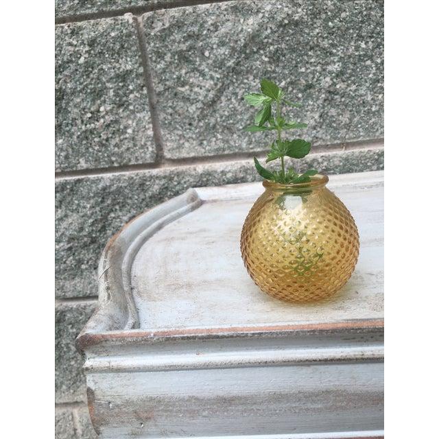 Vintage Burnt Citrine Hobnail Bud Vase Fall Decor - Image 3 of 6
