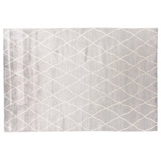 Stark Studio Rugs Contemporary Roselle Cloud 65% Bamboo Silk/35% Wool Rug - 10′1″ × 13′11″ For Sale