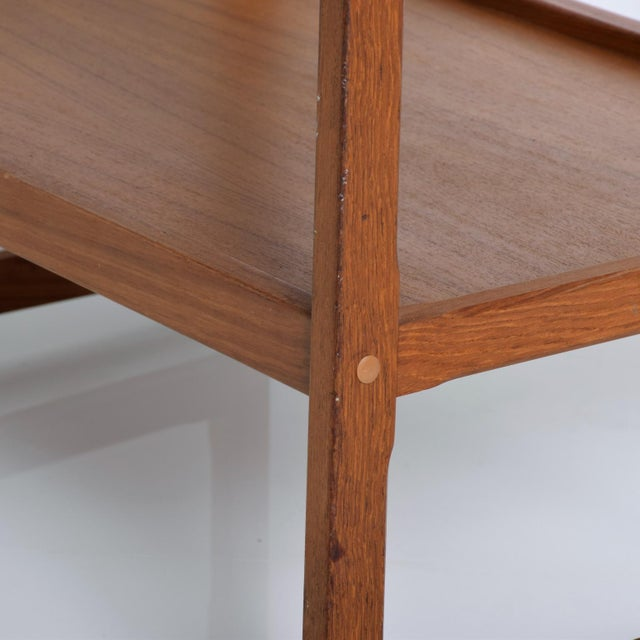 Mid-Century Danish Modern Teak and Tiles Service Table Bakery Bar Trolley For Sale - Image 4 of 12