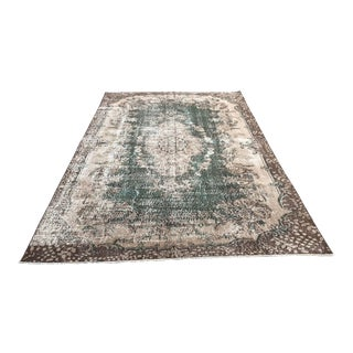 Overdyed Turkish Oushak Wool Rug - 6′6″ × 10′2″