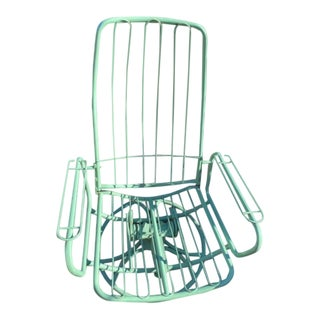 1960's Mid-Century Modern Homecrest Wire High Back Chair For Sale