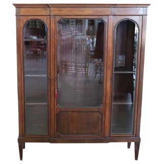 20th Century Italian Poplar Vitrine or Bookcase For Sale