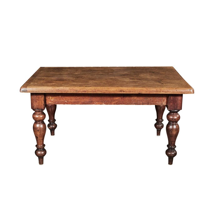 Pine English Dining Table For Sale - Image 7 of 7
