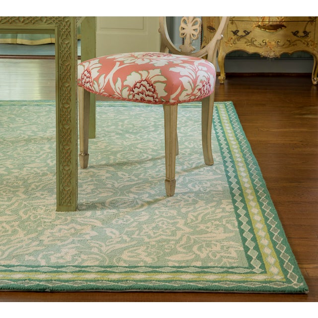 Green Madcap Cottage Under a Loggia Rokeby Road Green Indoor/Outdoor Area Rug 5' X 8' For Sale - Image 8 of 9