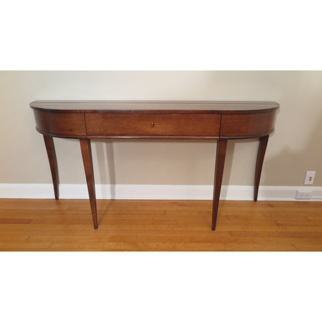 Niermann Weeks Frascati console table having one drawer in center. A northern Italian designed console having the essence...