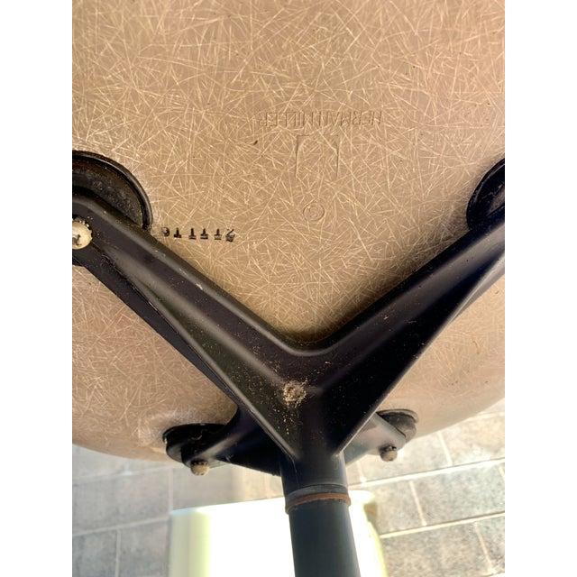 1970s 1970s Vintage Eames for Herman Miller Fiberglass Upholstered Blue Shell Chair For Sale - Image 5 of 7