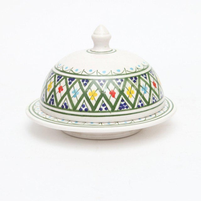 Hand Painted Moroccan Ceramic Serving Tajine - Image 2 of 3