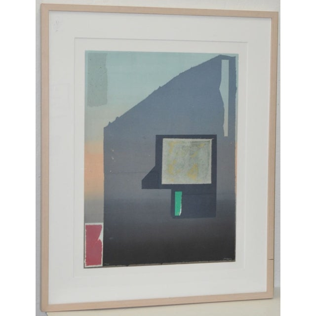 "1990s Robert Inman Pair of ""California & Osaka"" Lithographs C.1990s For Sale - Image 5 of 7"