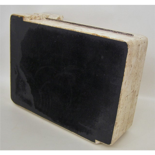 Maitland-Smith Vintage Travertine Marble Box For Sale - Image 10 of 11