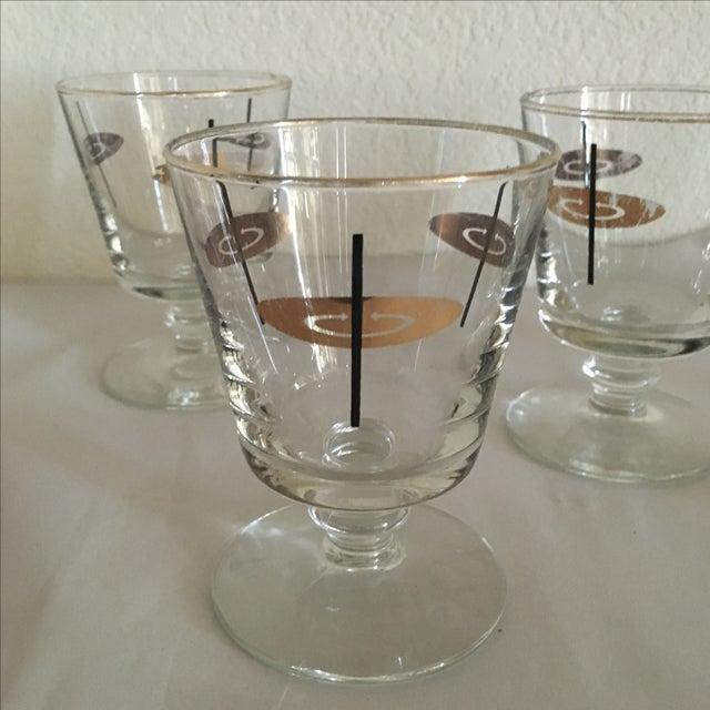 Vintage Atomic Footed Glasses - Set of 5 - Image 3 of 5