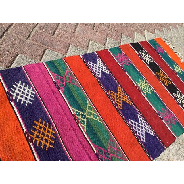 """Textile Vintage Turkish Kilim Rug -- 2' x 9'2"""" For Sale - Image 7 of 8"""