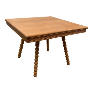 Primitive Bobbin Turned Leg Table For Sale