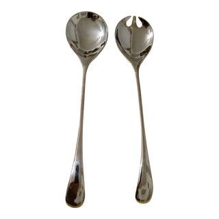 Mid-Century Modern Dansk Vivianna Torun Silverplate Salad Fork & Spoon - 2 Pieces
