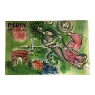 """Marc Chagall """"Romeo & Juliet"""" Limited Edition Large Poster on Linen Printed in Paris, France C. 1964 For Sale"""