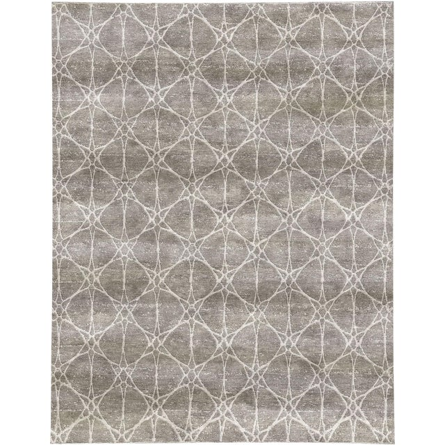 "Contemporary Hand Woven Rug - 8' x 9'10"" For Sale"