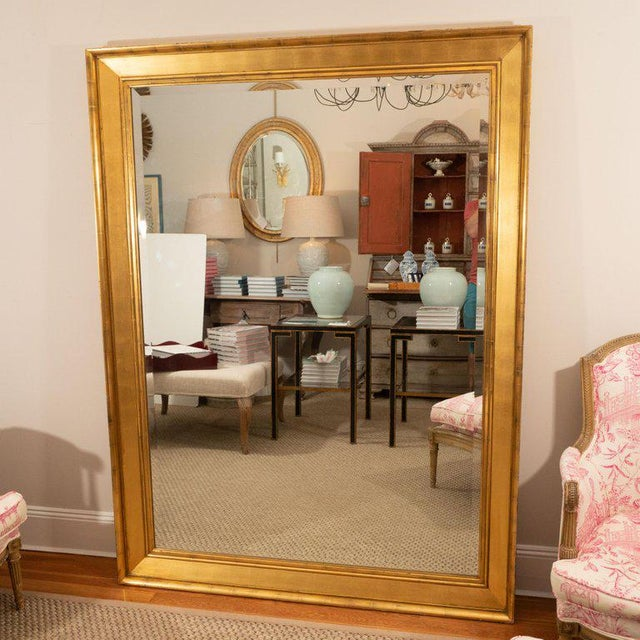 Traditional Late 19th Century Vintage Tall Giltwood Mirror For Sale - Image 3 of 6
