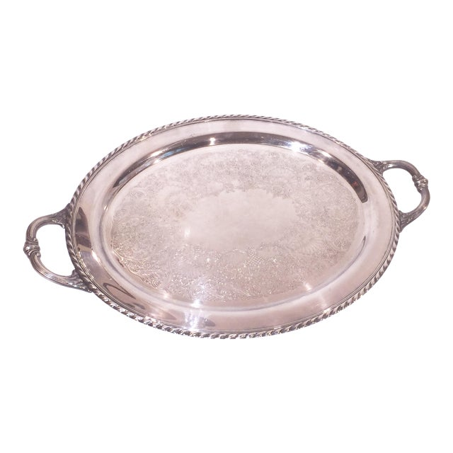 Silver Oval Tray - Image 1 of 5
