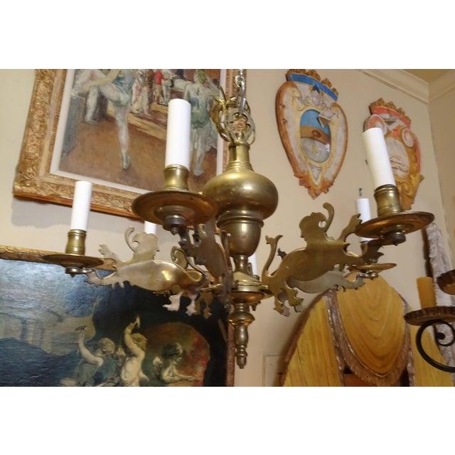 19th Century Belgium Brass Chandelier For Sale - Image 10 of 10