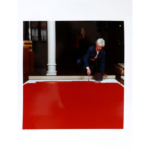 Andy Warhol Red Series Iii, Photo Portrait by Curtis Knapp For Sale - Image 4 of 4