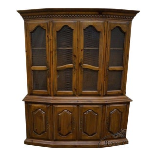 Ethan Allen French Style China Cabinet Breakfront For Sale