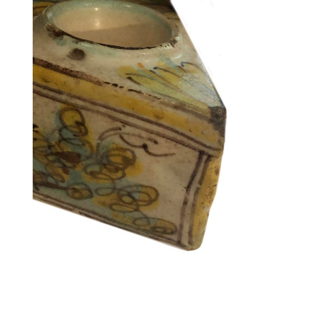 18th Century Italian Faience Inkwell For Sale - Image 4 of 7