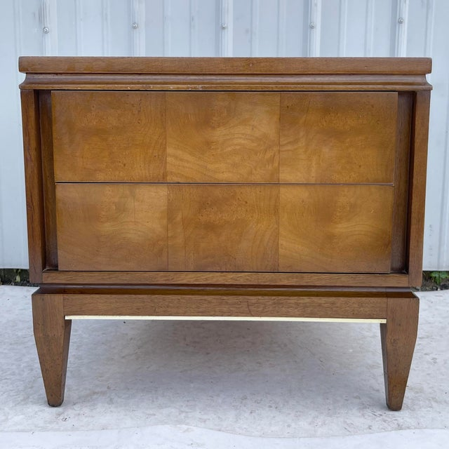 Mid-Century Two Drawer End Table or Nightstand For Sale - Image 13 of 13