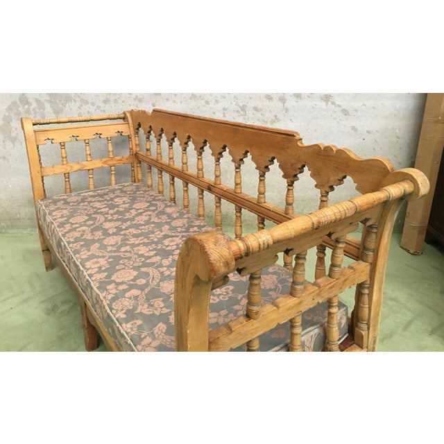 19th Century Large Pine Country Bench or Daybed For Sale - Image 9 of 11