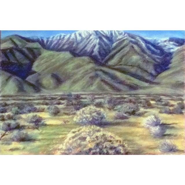 Pastel drawing of Eastern Sierra. This pastel drawing is unframed.