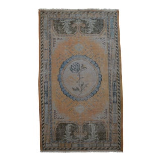 Anatolia Turkish Yastik Rug Distressed Area Rug - 2'9'' x 4'9'' For Sale
