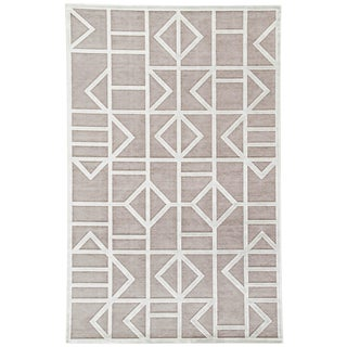 Jaipur Living Cannon Geometric Gray/ White Area Rug - 9′ × 12′