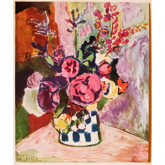 "1940s Henri Matisse, Original Period Parisian Lithograph ""Vase of Flowers"" For Sale In Dallas - Image 6 of 7"