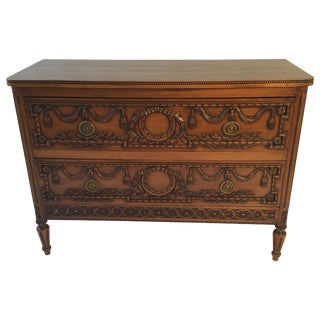 19th Century French Louis XVI Carved Commode For Sale