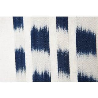 Schumacher Izmir Stripe Pillow in Blue/White 26x26 Preview