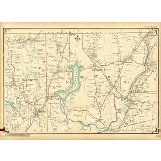 Map of Yorktown and Somers, Westchester County New York, 1908 For Sale
