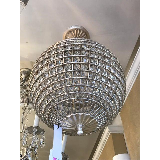 Hollywood Regency Visual Comfort Renwick Crystal Sphere Pendant Light For Sale - Image 3 of 6