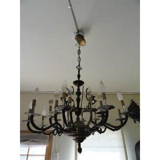 Antique Decorative Ten-Arm Brass Chandelier Preview