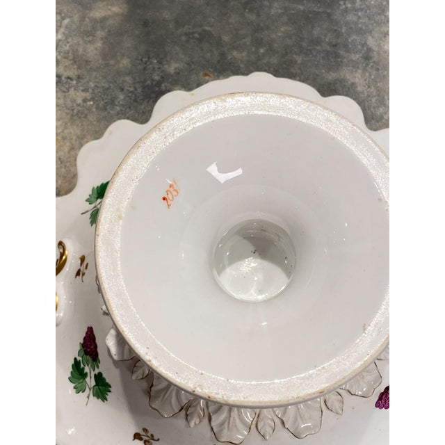 Ceramic 19th Century English Porcelain Footed Bowl For Sale - Image 7 of 8
