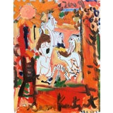 Image of Framed Picasso Poster Oil Painting by Sean Kratzert 'Afternoon' For Sale