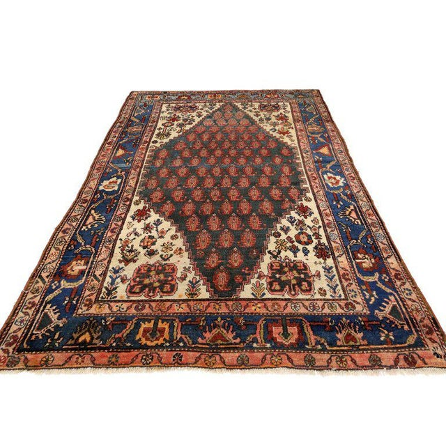 Modern Antique Persian Malayer Rug with Modern Traditional Style For Sale - Image 3 of 8