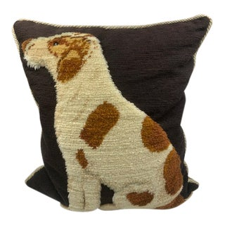 Vaughan Designs of London Needlepoint Dog Pillow For Sale