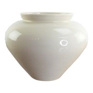 Royal Haegar Large White Cream Ginger Vase For Sale