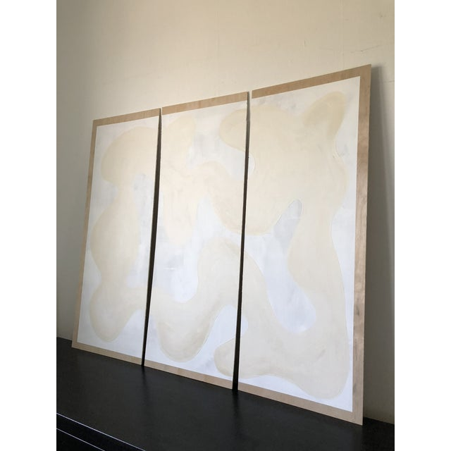 Wood Winter Whites Triptych For Sale - Image 7 of 10