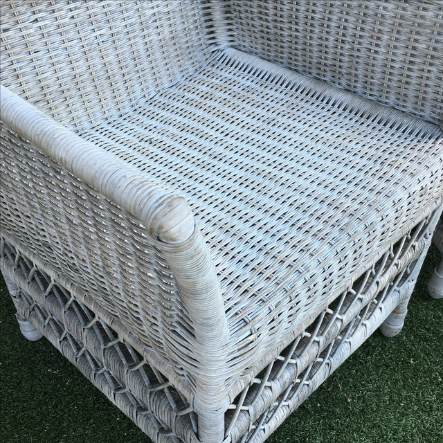 Shabby Chic White Wicker Chairs - a Pair - Image 4 of 7